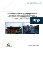 Informe sobre CALIDAD DEL AIRE en Caucasia (Antioquia)