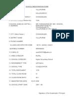 School Registration Form for Id Creation