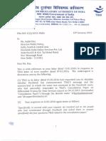 TRAI Facebook Letter