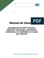 Manual de Usuario Actualización RUC Internet