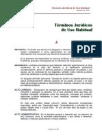 Terminos Juridicos de Uso Habitual