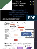 Metabolismo de Fármacos y Respuesta Inmunitaria