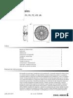 Manual de Instrucciones Ventiladores Axiales L-BAL-001-ES-USA