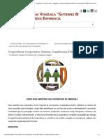 Cooperativas, Cooperativa, Gestion, Constitucion,Trámite, Tipos - Abogados Caracas Venezuela _Gutierrez & Asociados_ 25 Años Experiencia