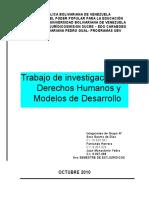 Trabajo de Investigación de Derechos Humanos y Modelos de Desarrollo1