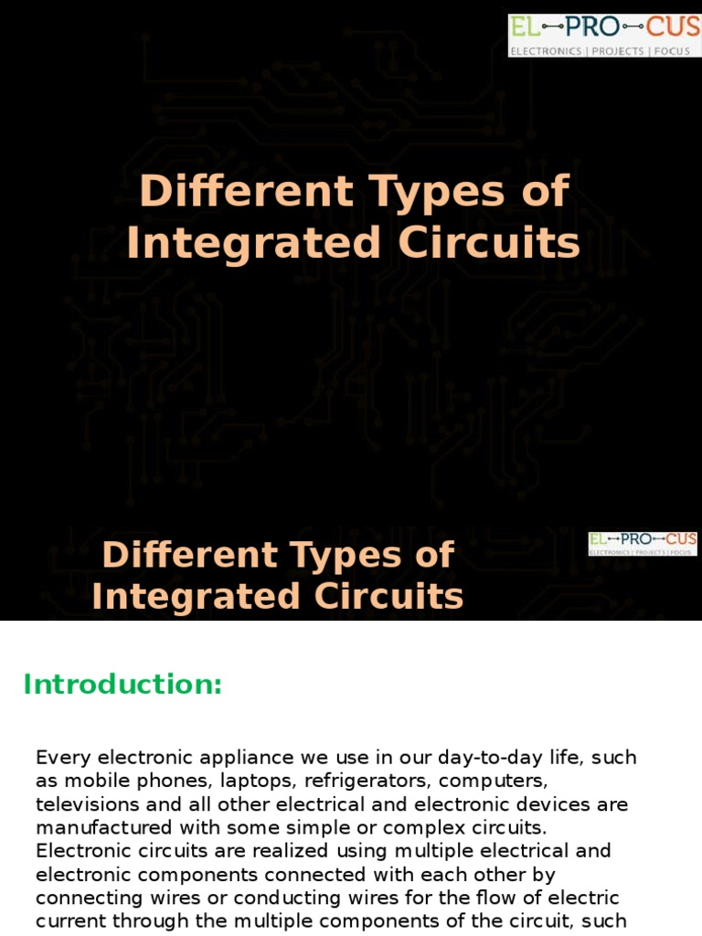 Know About Different Types Of Integrated Circuits Electronic Simple Circuit Not Gate Which Is Realized Using Bipolar