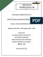 Proyecto Final Administracion