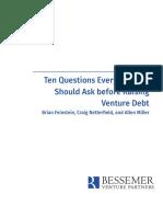 Bessemer Guide to Venture Debt