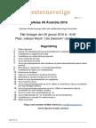 Kallelse Förbundsstämma WesternSverige 20160130