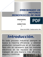 Embobinado de Motores Monofásicos de Fase Partida
