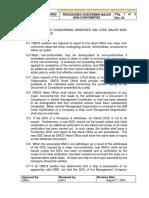 ISM-PR-09 Procedure for Major Non-Conformities