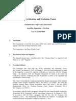 Domain Name Dispute [WIPO AMC Decision] - Israel Bar Association v. Itai Ram [2010]
