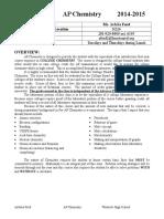 Syllabus AP Chemistry 2014-2015