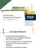 Acid Base Balance and Arterial Blood Gas Analysis