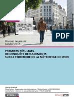 Enquete du SYTRAL sur les deplacements dans la Metropole de Lyon