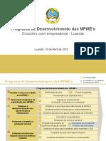 Iniciativas de Apoio Ao Micro_Pequeno_Medio Empreendedor 10Abril2012 _Futungo II