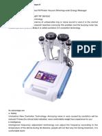 Unoisetion Cavitation 2.0 Smart Rf Photon Vacuum Slimming+solar Energy Massager