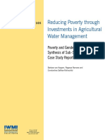 Reducing Poverty by Irrigation - Sub-Saharan Study
