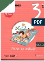 Fichas de Avaliacao Desafios Portugues 3ºAno