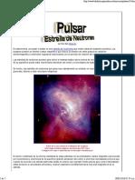 Pulsar Una Estrella de Neutrones