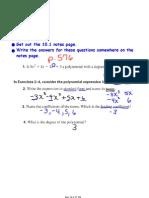 Algebra I Notes April 8 Block 3