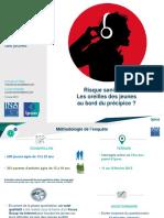 Enquete JNA 2015 Risques Auditifs