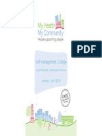 My Health My Community - Self-management College Prospectus