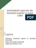 Amenajările Agricole Din România Înainte Și După 1989