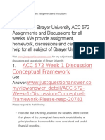 ACC 572 Strayer University Assignments and Discussion