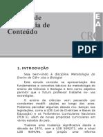 Ensino de Cieências e Biologia - Introução e Conceitos - U1