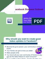 Create Interesting and Fun Facebook Statuses