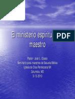 El Ministerio Espiritual Del Maestro