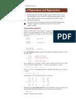 Applications of Eigen Values and Vectors