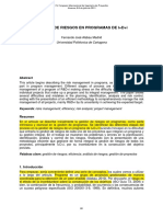 Artículo 18 GESTIÓN DE RIESGOS EN PROGRAMAS DE I+D+i (2)