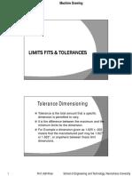 Limit Fits Tolerances