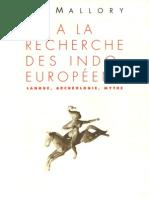 A la Recherche des Indo-Europeens