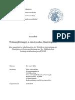 Wahlempfehlungen in der deutschen Qualitätspresse