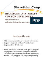 SharePoint 2010 - What's New For Developers?