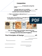 composition  principles of design  fill in the blanks worksheet