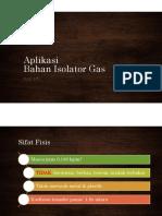 Aplikasi Bahan Isolator Gas