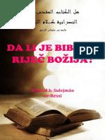 DA LI JE BIBLIJA RIJEČ BOŽIJA?   -   Madžid b. Sulejman er-Ressi
