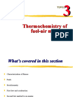 3 Thermochemistry of Fuel-Air Mixtures
