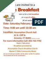 Breakfast Feb 2016
