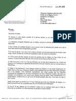 Courrier de Maryse Jouissains adressé à Stéphane Bouillon, préfet de la région Paca