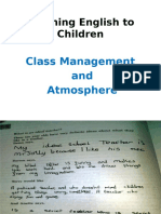 Class Management and Atmosphere