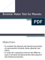 Bromine Water Test for Phenols