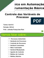 Instrumentação Industrial - Variável de Processos