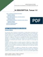 Estadística Descriptiva. Temas 1-3