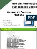 Instrumentação Industrial - Pressão