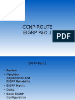 Cis185 ROUTE Lecture2 EIGRP Part1